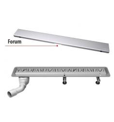 Odpływ Liniowy FORUM. Wysokość całkowita od 86mm. Długość 50-120cm