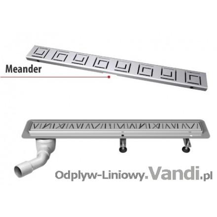 Odpływ Liniowy  MEANDER. Wysokość Całkowita od 8,6cm. Długość 50-120cm