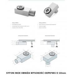Odpływ Liniowy PLENUM do wypełnienia płytkami o wysokości od 95mm Długość 50-120cm