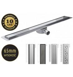 Odpływ  Premium Slim niski 70mm. Szerokość 58mm. Długość 50-120cm